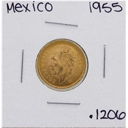 1955 Mexico 5 Pesos Gold Coin