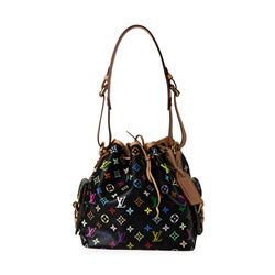 Louis Vuitton Black Multicolor Monogram Noe Bucket Bag