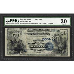 1882 $50 Date Back The Winters NB Dayton, OH Ch# 2604 PMG Very Fine 30