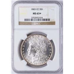 1883-CC $1 Morgan Silver Dollar Coin NGC MS63+