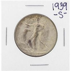 1939-S Walking Liberty Half Dollar Coin