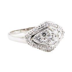 18KT White Gold 0.50 ctw Diamond Cluster Ring