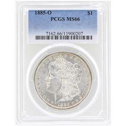 1885-O $1 Morgan Silver Dollar Coin PCGS MS66