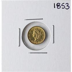 1853 $1 Liberty Head Gold Dollar Coin