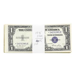 Lot of (100) 1935 $1 Silver Certificate STAR Notes