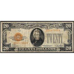1928 $20 Gold Certificate Note