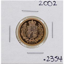 2002 Great Britain Elizabeth II Sovereign Gold Coin