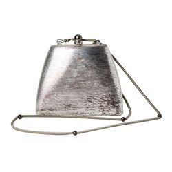 Rodo Italy Silver Metal Evening Bag