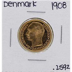 1908 Denmark Christian IX 20 Kroner Gold Coin