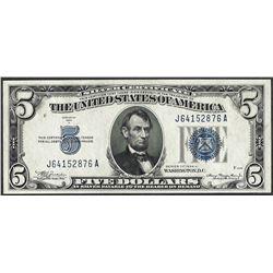 1934A $5 Silver Certificate Note