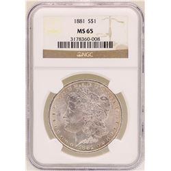 1881 $1 Morgan Silver Dollar Coin NGC MS65