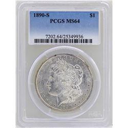 1890-S $1 Morgan Silver Dollar Coin PCGS MS64