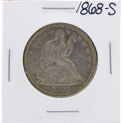 1868-S Seated Liberty Half Dollar Coin