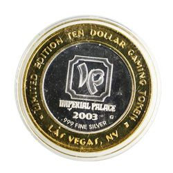 .999 Silver Imperial Palace Las Vegas, NV $10 Casino Limited Edition Gaming Toke