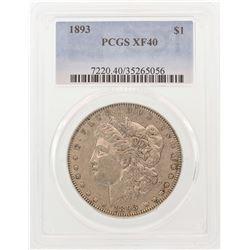 1893 $1 Morgan Silver Dollar Coin PCGS XF40