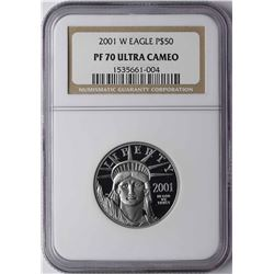 2001-W $50 Platinum American Eagle Coin NGC PF70 Ultra Cameo