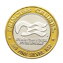 .999 Silver HSP Princess Cruises Casino Limited Edition Gaming Token