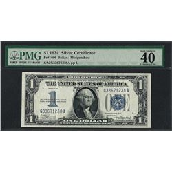 1934 $1 Funnyback Silver Certificate Note Fr.1606 PMG Extremely Fine 40EPQ