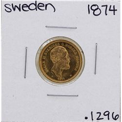 1874 Sweden 10 Kroner Gold Coin
