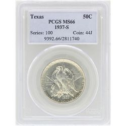 1937-S Texas Commemorative Half Dollar Coin PCGS MS66
