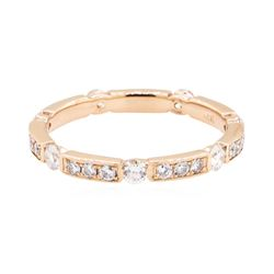 14KT Rose Gold 0.65 ctw Diamond Eternity Ring