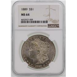 1889 $1 Morgan Silver Dollar Coin NGC MS64