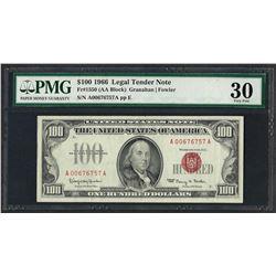 1966 $100 Legal Tender Note Fr.1550 PMG Very Fine 30