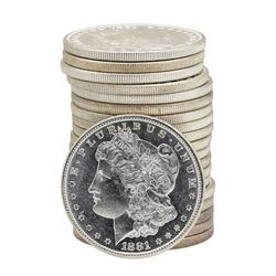 Roll of (20) 1881-S $1 Brilliant Uncirculated Morgan Silver Dollar Coins