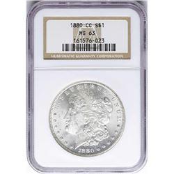 1880-CC $1 Morgan Silver Dollar Coin NGC MS63