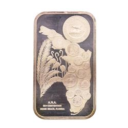 1974 ANA Convention Florida 1 oz .999 Fine Silver Art Bar