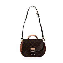 Louis Vuitton Monogram Eden PM Bag with Camel Leather