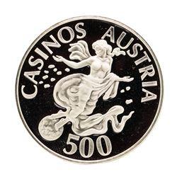 Casinos Austria 19.8 gram .925 Sterling Silver Gaming Token