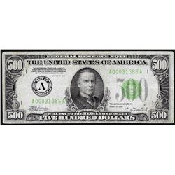 1934 $500 Federal Reserve Note Boston