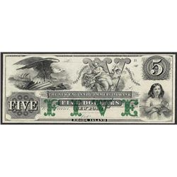 1800's $5 New England Commercial Bank Rhode Island Obsolete Note