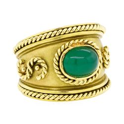18KT Yellow Gold 2.00 ctw Chalcedony Ring