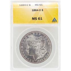 1884-O $1 Morgan Silver Dollar Coin ANACS MS61