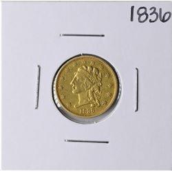 1836 $2 1/2 Classic Head Quarter Eagle Gold Coin