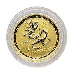 2000 $15 Australia Lunar Year of the Dragon 1/10 oz. Gold Coin