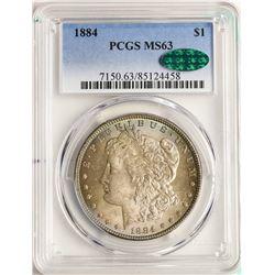 1884 $1 Morgan Silver Dollar Coin PCGS MS63 CAC AMAZING TONING