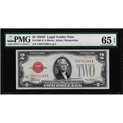 1928D $2 Legal Tender Note Fr.1505 PMG Gem Uncirculated 65EPQ