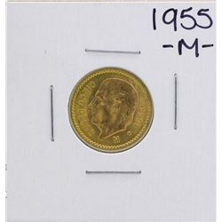 1955 Cinco Pesos Gold Coin