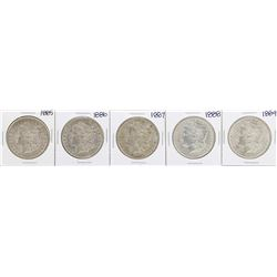 Lot of 1885-1889 $1 Morgan Silver Dollar Coins