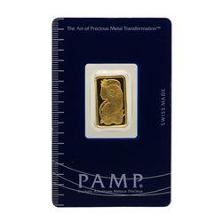 Suisse 5 Gram Fine Gold Pamp Gold Bar