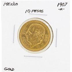 1907-M Mexico 10 Pesos Gold Coin