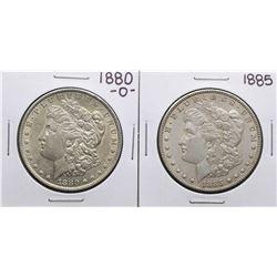 Lot of 1880-O & 1885 $1 Morgan Silver Dollar Coins