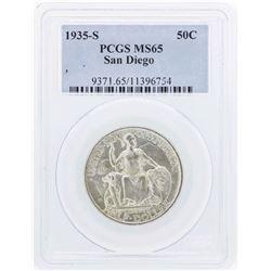 1935-S San Diego Commemorative Half Dollar Coin PCGS MS65