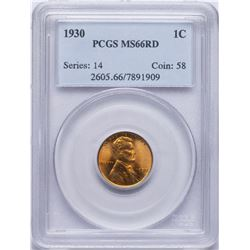 1930 Lincoln Wheat Cent Coin PCGS MS66RD