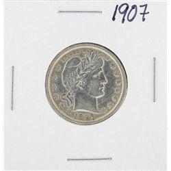 1907 Barber Silver Quarter Coin
