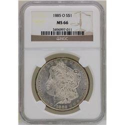 1885-O $1 Morgan Silver Dollar Coin NGC MS66