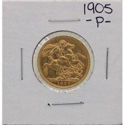1905-P Perth Mint Australia Sovereign Gold Coin